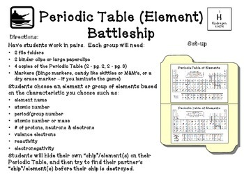 Periodic table battleship directions elcho table multiplication battleship hasbro toy instruction in the espaol spanish language a urtaz Image collections