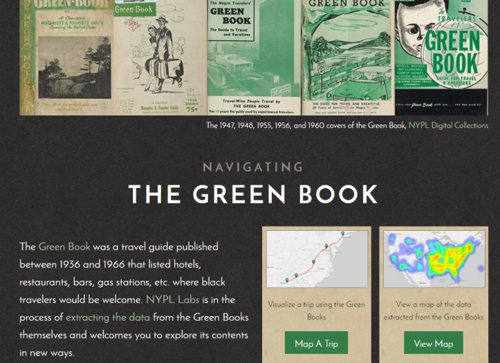 The Green book home page