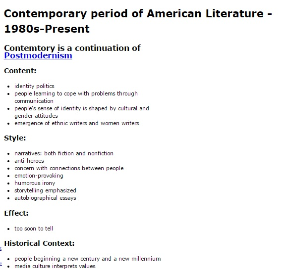 contemporary american literature essay questions Check our list of great literary analysis topics on african american literature  contemporary themes and issues in literature  essay on one of.