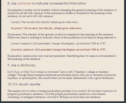 Brunerbiz: Mousepad Punctuation Guide - m-design