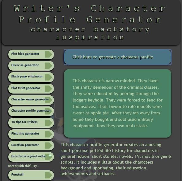 6-character-profile-generator